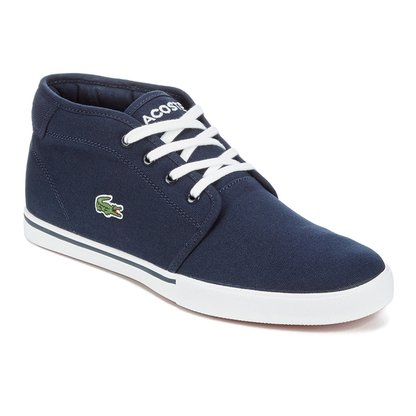 beb990a76810 Lacoste Men s Ampthill LCR 2 Canvas Chukka Trainers - Blue  Image 4