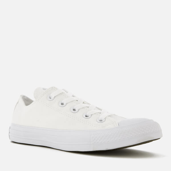 4d5c64b424a2 Converse Chuck Taylor All Star Ox Canvas Trainers - White Monochrome  Image  2