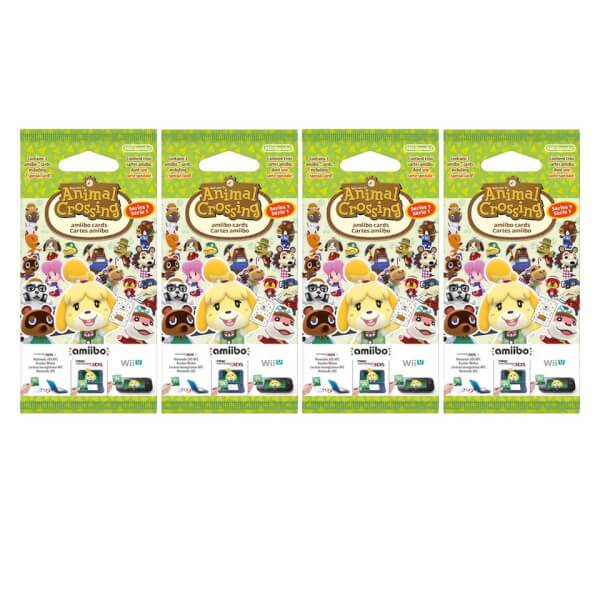 Animal Crossing amiibo cards - Series 1 - 4 Pack