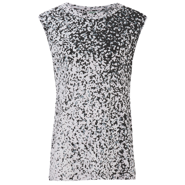 KENZO Women's Printed Cotton Blend Jersey Sleeveless Top - Glycine