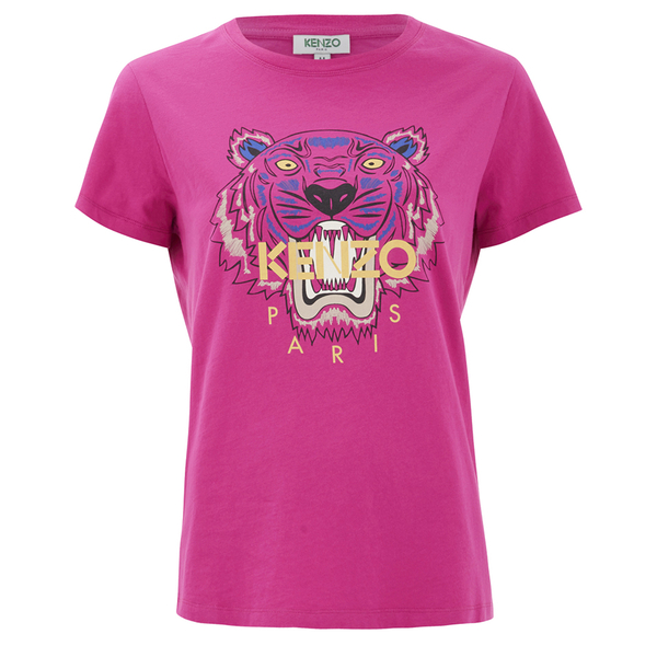KENZO Women's The Classic Tiger T-Shirt In Light Cotton Jersey - Fuchsia