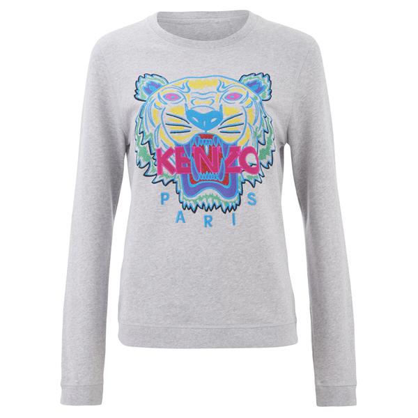 KENZO Women s The Classic Tiger Sweatshirt - Light Grey - Free UK ... 4355bf7e8e9
