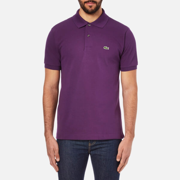 Lacoste Men's Short Sleeve Pique Polo Shirt - Boheme Purple