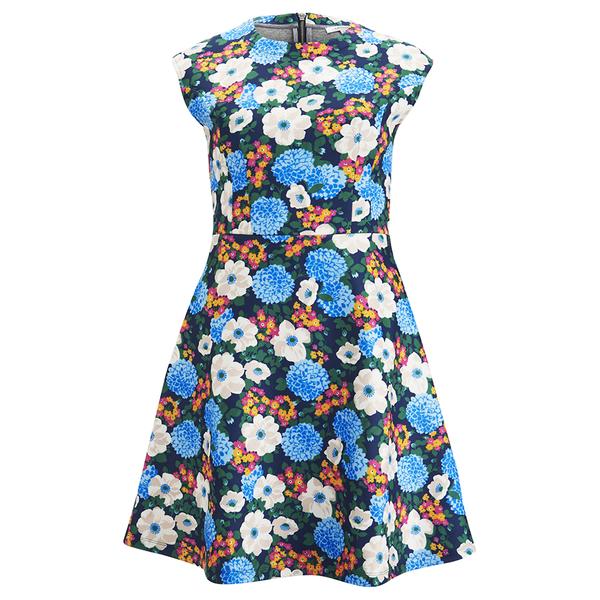 Carven Women's Floral Mini Dress - Multi