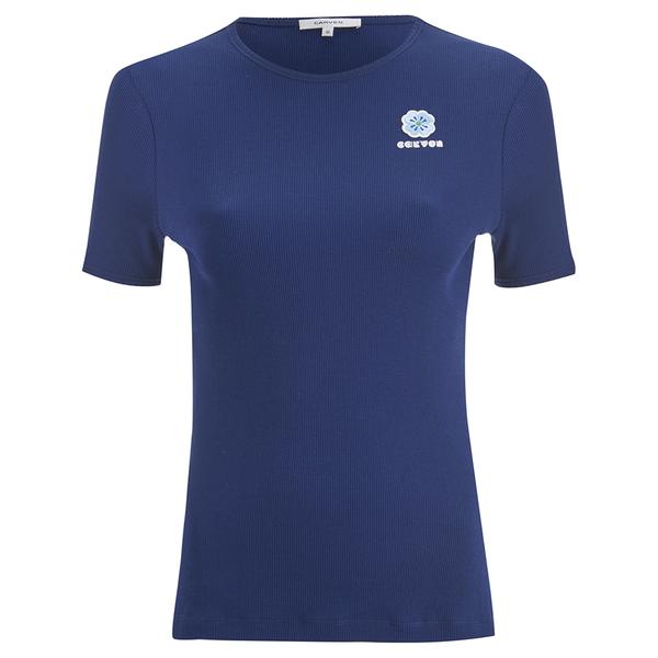 Carven Women's Logo T-Shirt - Blue
