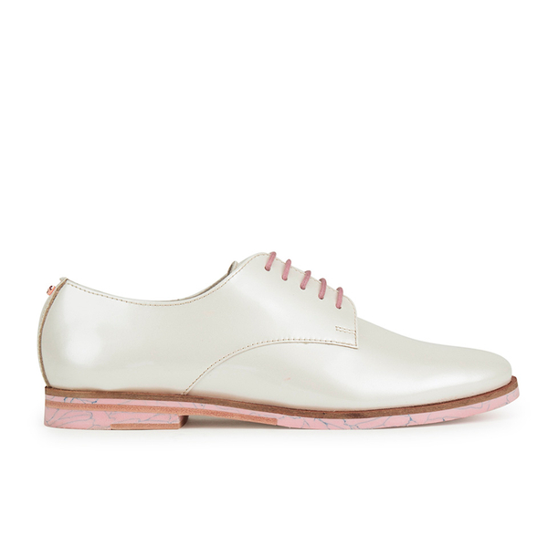 Ted Baker Women's Loomi Patent Leather Oxford Shoes - White