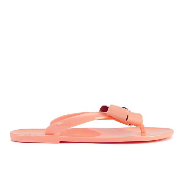 0b8f18b0582c51 Ted Baker Women s Ettiea Jelly Bow Flip Flops - Light Orange  Image 2