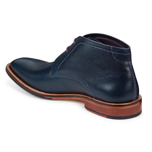 Ted Baker Men's Torsdi 4 Leather Desert Boots - Dark Blue: Image 4