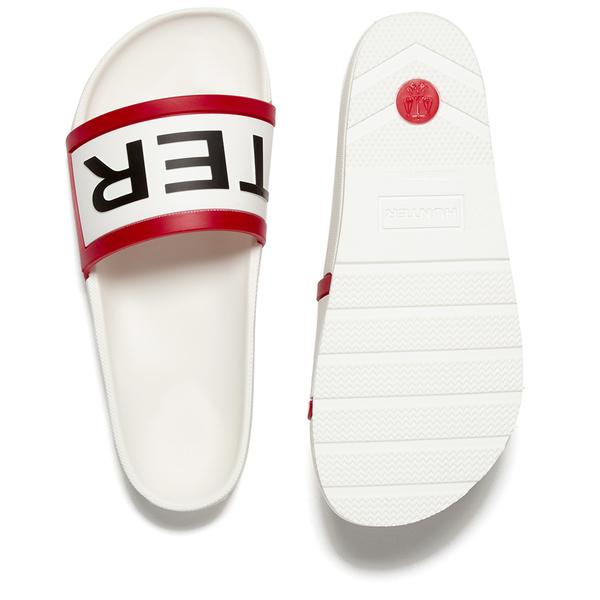 97e5ca2f33c Hunter Women s Original Slide Sandals - White  Image 5