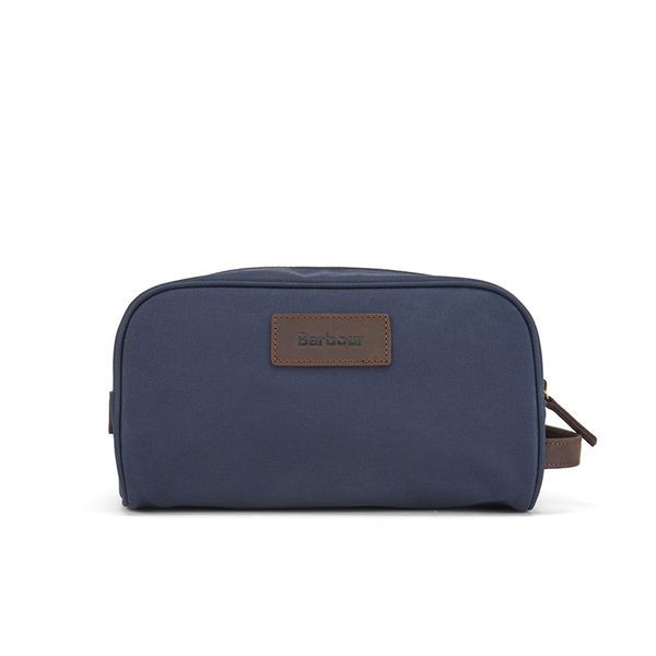 d1741dbe71 Barbour Men s Drywax Wash Bag - Navy  Image 1