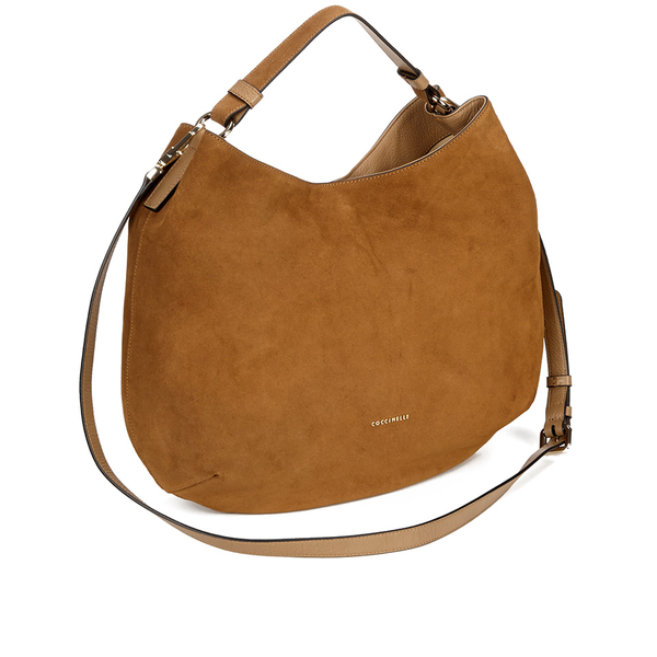 Coccinelle Women's Jessie Suede Hobo Bag - Tan Womens Accessories ...
