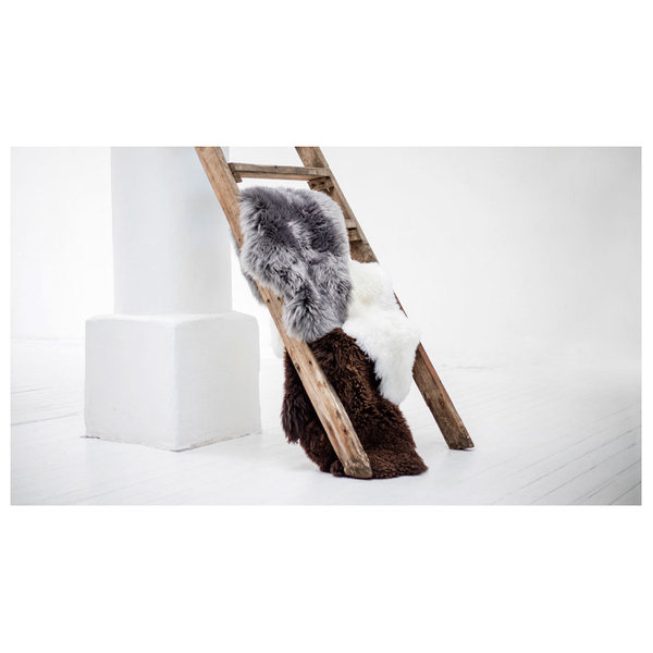 Royal Dream Large Sheepskin Rug Grey Iwoot