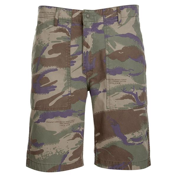 Maharishi Men's Reversible Camo Shorts - Papal Woodland/Sand