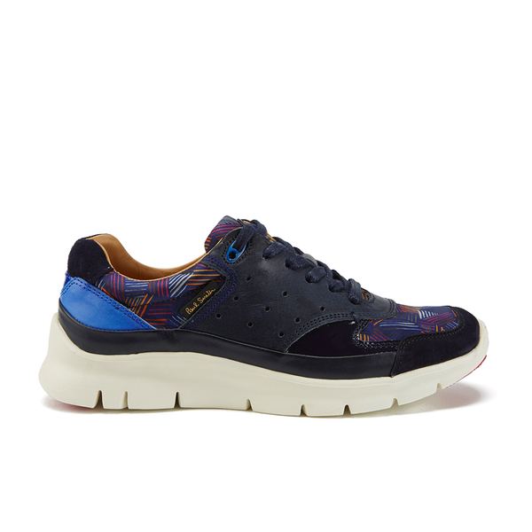 Paul Smith Shoes Women's October Trainers - Black Seda Goya/Vanilla Rode Metallico