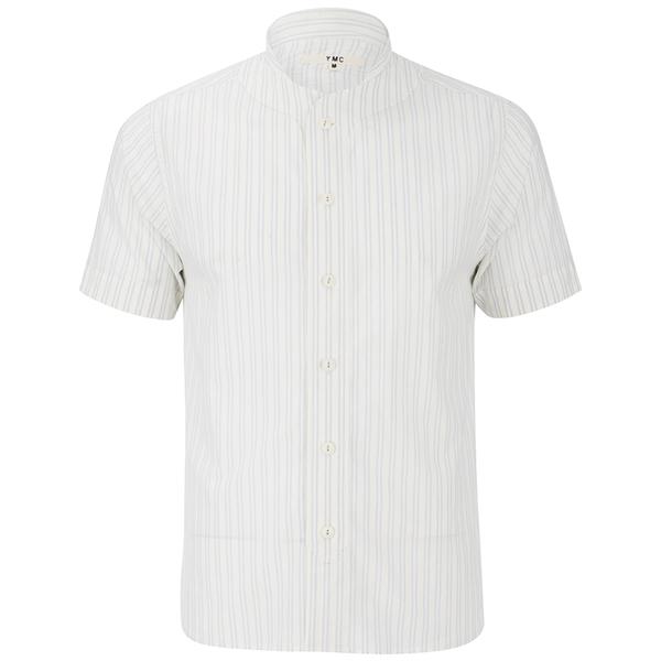 YMC Men's Double Stripe Baseball Shirt - Cream