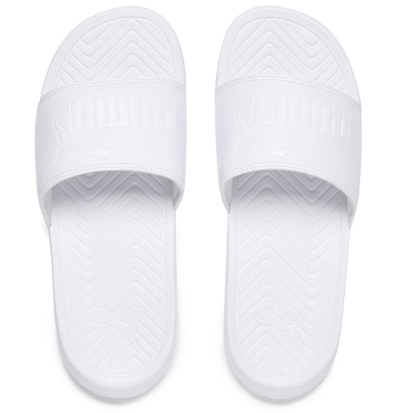 47c548fae29 Puma Popcat Slide Sandals - Triple White  Image 1