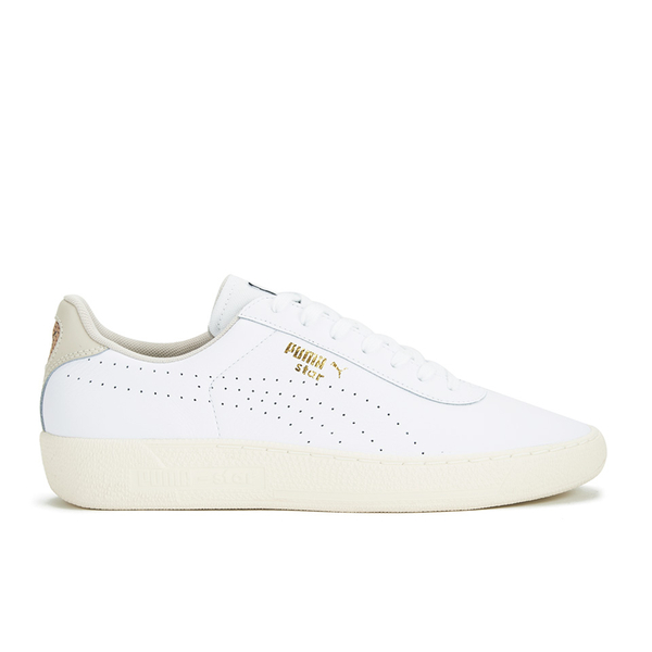 Puma Men's Tennis Star Crafted Leather Low Top Trainers - White
