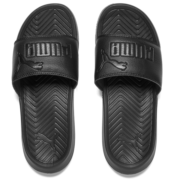 5aa387bf7cd Puma Popcat Slide Sandals - Black  Image 1