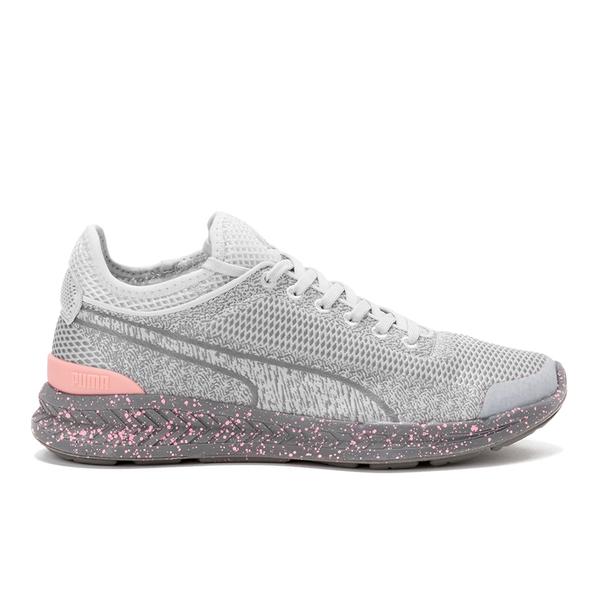 adaadfbd5f2 Puma Women s Ignite Sock Woven Low Top Trainers - Grey Grey  Image 1