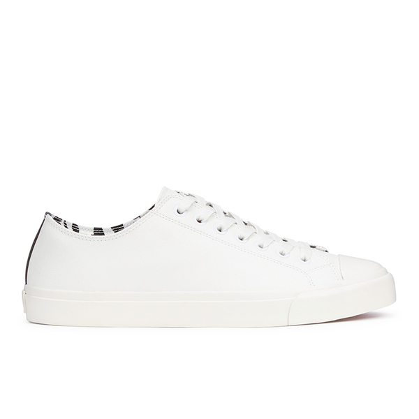 Paul Smith Shoes Men's Indie Vulcanised Trainers - White Mono: Image 1