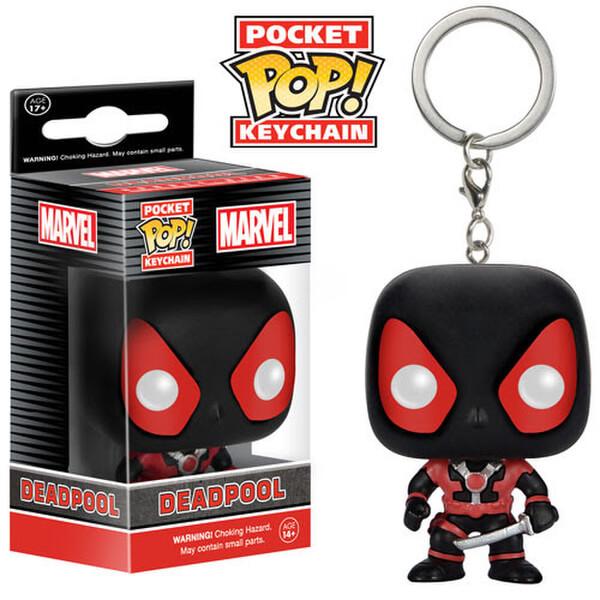 Marvel Deadpool Black Suit Pocket Pop! Vinyl Key Chain