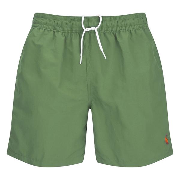 Polo Ralph Lauren Men\u0027s Hawaiian Swim Shorts - Military Green: Image 1