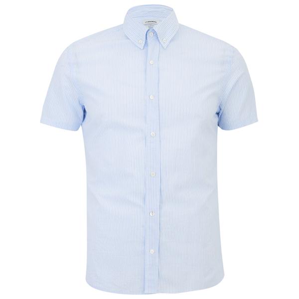 j lindeberg men 39 s short sleeve shirt light blue mens