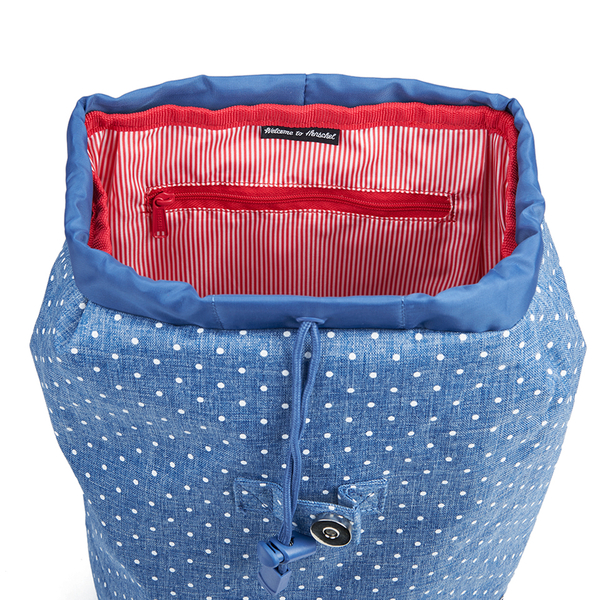 Herschel Women s Reid Polka Dot Crosshatch Backpack - Light Blue  Image 4 29bc81805dcc4