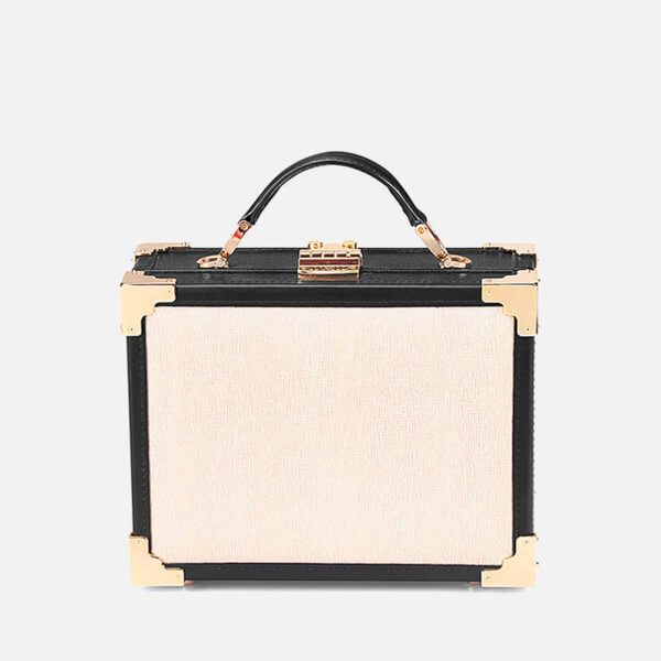 Aspinal of London Women's Mini Trunk Bag - Monochrome