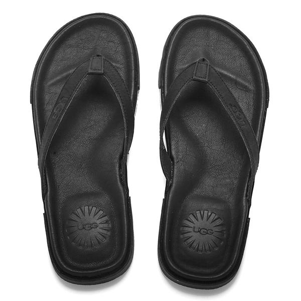 UGG Men's Bennison II Nubuck Flip Flops - Black