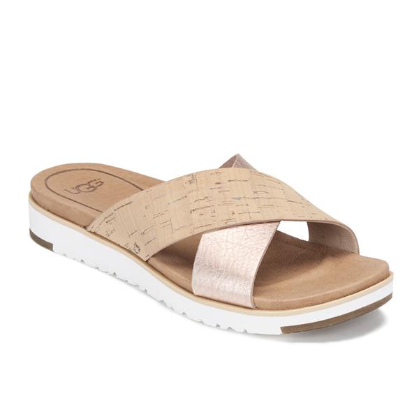 Ugg Women S Kari Slide Sandals Cork And Rose Gold Free