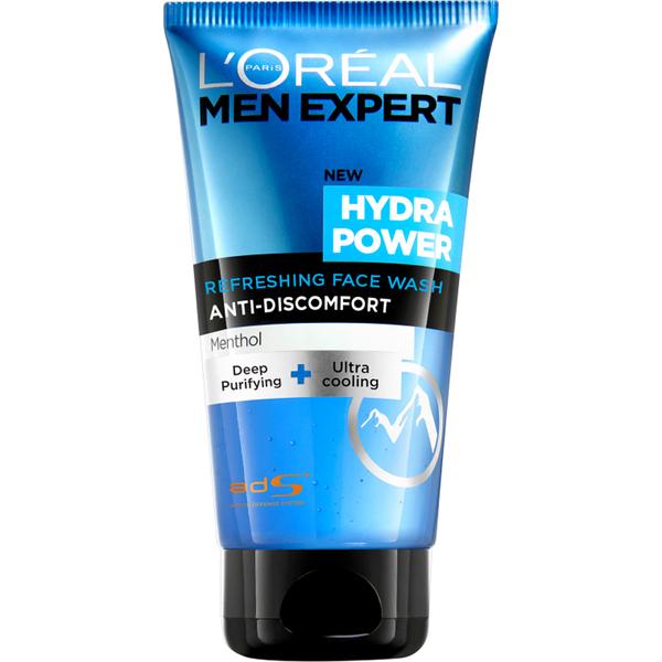 Limpiador facialHydra Power Refreshing Face Wash de L'Oréal Paris Men Expert (150 ml)