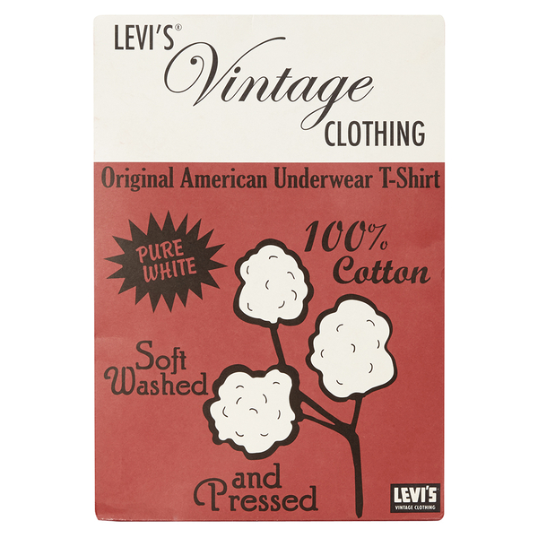 Levi 39 s vintage men 39 s 1950s sportswear t shirt white for Levis vintage denim shirt 1950 sawtooth slim fit