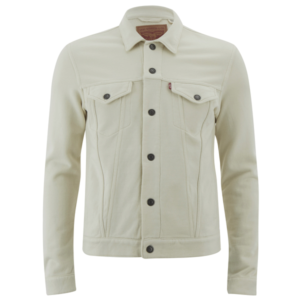 Levi 39 S Men 39 S French Terry Trucker Jacket Chalky White