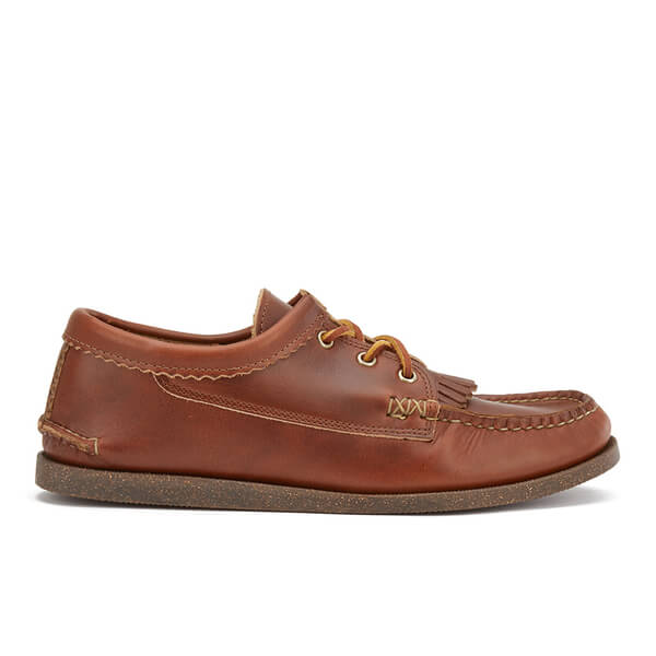 Yuketen Men's Blucher with Kiltie Leather Moccasins Shoes - Tan