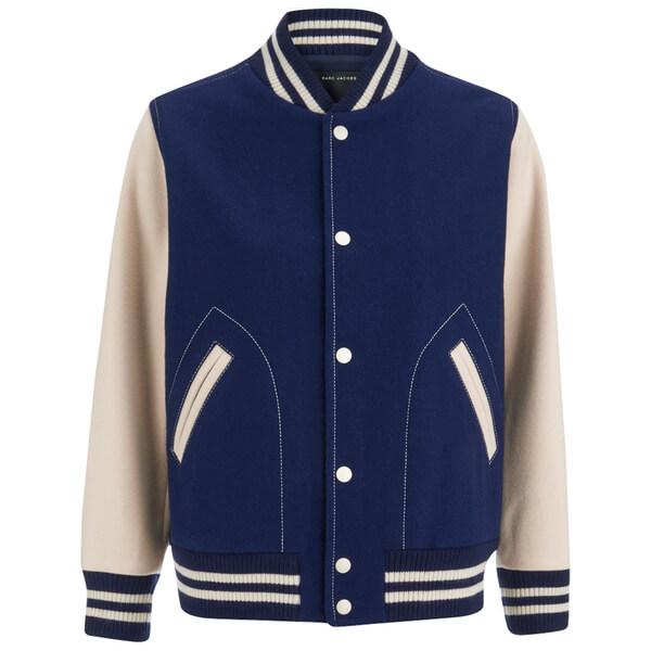 Marc Jacobs Women's Shrunken Varsity Jacket - Navy
