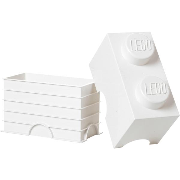 brique de rangement lego blanche 2 tenons toys. Black Bedroom Furniture Sets. Home Design Ideas