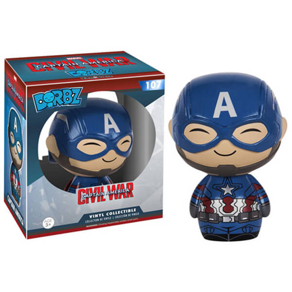 Marvel Captain America Civil War Captain America Dorbz Action Figure
