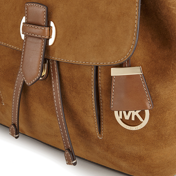 1ba2d2cc7a42 MICHAEL MICHAEL KORS Women's Romy Suede Backpack - Dark Caramel: Image 3