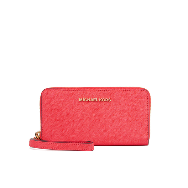 ed2cffebc4 MICHAEL MICHAEL KORS Women s Jet Set Phone Purse - Coral Reef  Image 1