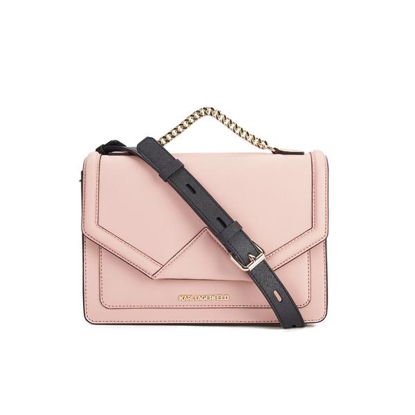 a86562a469af Karl Lagerfeld Women s K Klassik Single Shoulder Bag - Misty Rose  Image 1