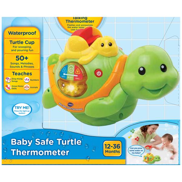 Vtech Baby Safe Turtle Bath Thermometer Toys Zavvi