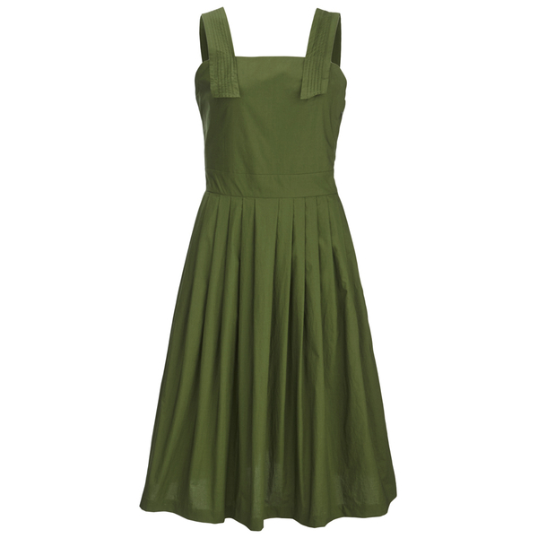 Maison Kitsuné Women's Iris Open Back Long Dress - Khaki