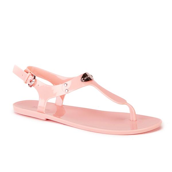 6ca47915474 MICHAEL MICHAEL KORS Women s MK Plate Jelly Sandals - Pale Pink  Image 2