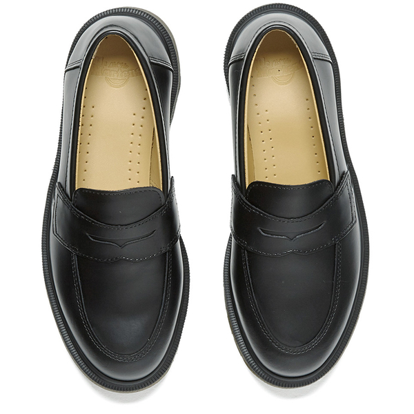 50f750b8c1e Dr. Martens Women s Addy Loafers - Black Smooth  Image 2