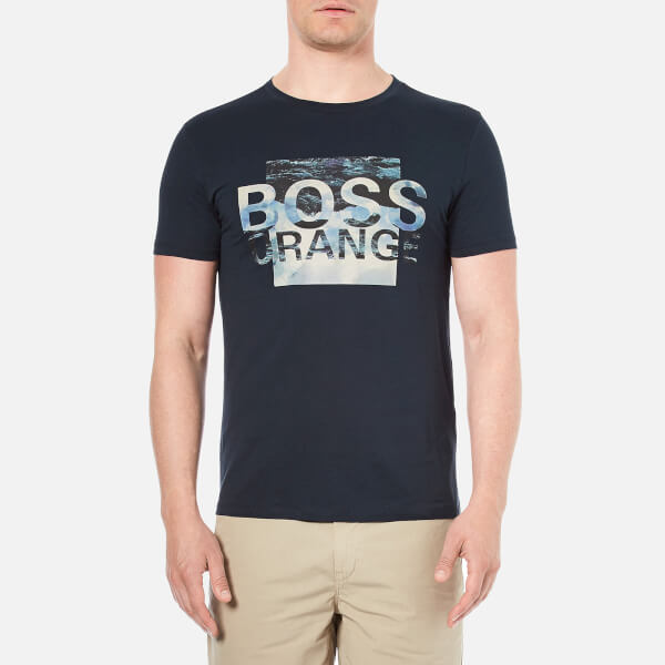 BOSS Orange Men's Terko 1 Logo T-Shirt - Navy