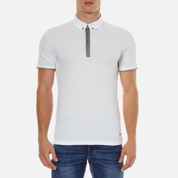 BOSS Orange Men's Playott Placket Trim Polo Shirt - White