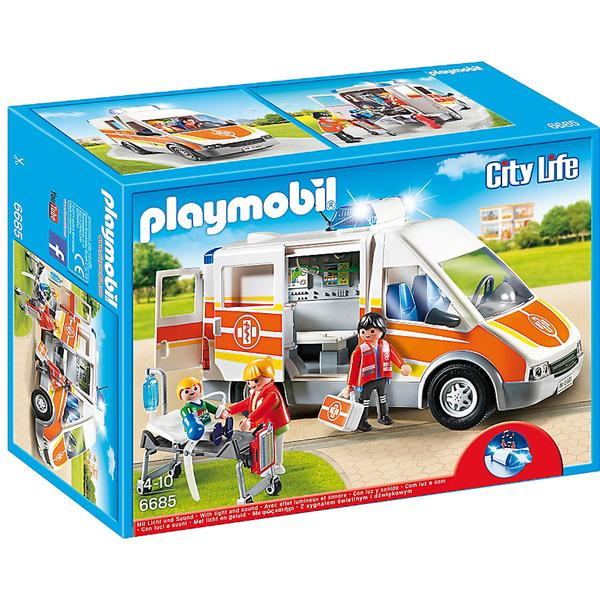 Ambulance avec gyrophare et sirène -Playmobil (6685)
