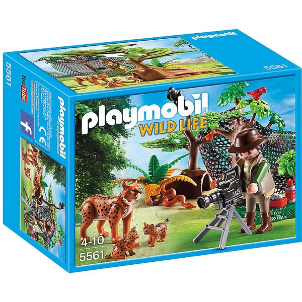 playmobil wild life lynx family with cameraman 5561 toys zavvi australia. Black Bedroom Furniture Sets. Home Design Ideas
