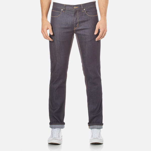 HUGO Men's 708 Slim Fit Unwashed Denim Jeans - Raw Blue